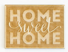Woodums Home Sweet Home Engraved Wood Sign Wall Décor