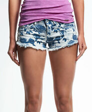 New Womens Superdry Printed Hot Shorts Super Rose