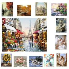 DIY Paint By Numbers Kit Digital Oil Painting Linen Canvas Art Unframed 12Styles