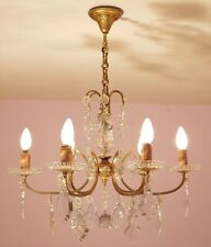 Stunning Vintage French 6 Light Crystal Empire Chandelier