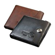 Billfold Wallet Men's Genuine Leather Brown Credit/ID Card Holder Slim Purse