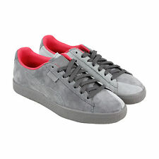 Puma Puma X Staple Clyde Mens Grey Suede Lace Up Sneakers Shoes