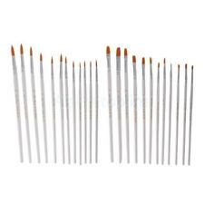 12 Flat Tip Artist Paint Brushes Set Nylon Hair Watercolor Painting Drawing Pen