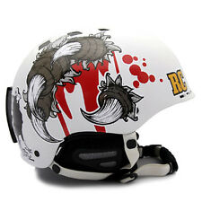 Motorcycle Helmet Decal Sticker Snowboarding Biker Hard Hat - Design RAVEN 04