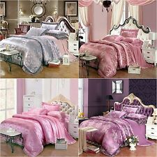 Floral Duvet Quilt Doona Cover Set Queen King Size Bed Linen Pillow cases New