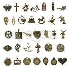 2-100pcs Antique Brass Bead Metal Pendant Jewelry Finding 35 style