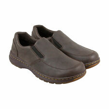 Dr. Martens Brennan Mens Brown Leather Casual Dress Lace Up Loafers Shoes