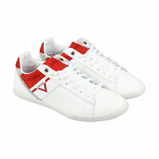 Diesel S-Judzy Mens White Red Leather Lace Up Sneakers Shoes