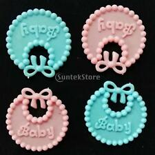 Set of 12 Baby Bibs Girl Shower Decor Plastic Decorations Ornaments Party Favors