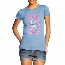 Twisted Envy I Love You Neon Hearts Women's Valentines T-Shirt