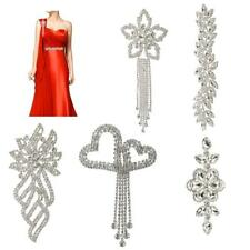 Crystal Rhinestone Beaded Applique Trim Wedding Bridal Dress Sash Applique DIY