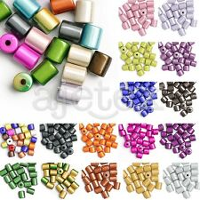 20/25pcs Acrylic Miracle Beads Illusion Jewelry Cylinder 8.5x8.5x8mm/10x8x8mm