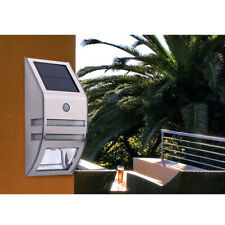 Solar Powered Bright 2-LED Wireless PIR Motion Sensor Security Wall Light