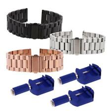Stainless Steel Watch Band Strap Metal Clasp for Fitbit Blaze + Remover Tools