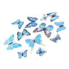 12 Pcs 3D Butterfly Wall Stickers Holiday Art Decal Art Decal Mural