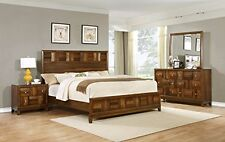Roundhill Furniture Calais Solid Wood Construction Bedroom Set with Bed, Dres...