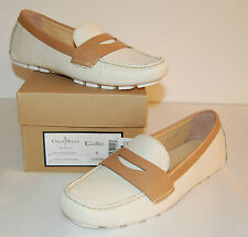 New $178 Cole Haan Nike Air Sadie Driver Loafer Ivory White/Sandstone Leather