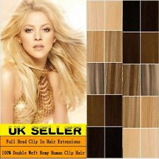 8PCS 18Clips Real Thick Clip in 100% Remy Human Hair Extensions Full Head LD529