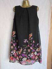 Womens stunning black floral work wedding party dress tunic by Atmosphere uk 16