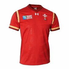Under Armour Wales RWC15 WRU Supporters Home Rugby Shirt - Junior