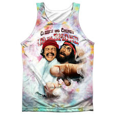 Cheech & Chong Fried Tie Dyed Mens Sublimation Tank Top Shirt White