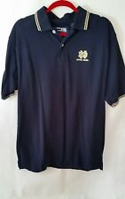 NOTRE DAME Irish blue Men Crable Sportswear Short Sleeve Polo Shirt M