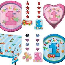 Fun At One 1st First Birthday Tableware Birthday Party Pink Blue Decorations
