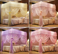 Princess 4 Corner Post Bed Canopy Mosquito Netting Or Frame Twin Queen King Size