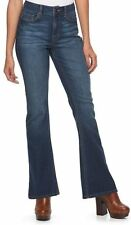 MUDD Juniors jeans high rise flare dark blue denim girls size 7 9 13 NWT