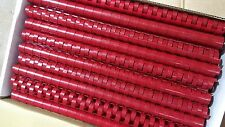 Plastic Binding Combs Bright Red A4 21 Ring Loop
