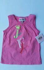 NWT Juicy Couture Baby Girl PINK 100% cotton T shirt Size 12 18 months Gift
