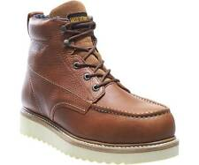"""WOLVERINE W08289-M WORK WEDGE 6"""" MOC TOE ST Mn's (M) Brown Leather Boots"""