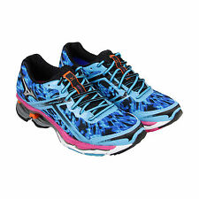 Mizuno Wave Creation 15 Womens Blue Synthetic Athletic Lace Up Running Shoes