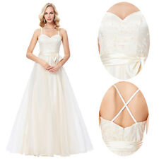 Lady Wedding Bridesmaid Pongee Long Evening Party Ball Gown Prom Cocktail Dress.