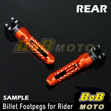 For Ducati 959 Panigale 16 ORANGE BoB CNC Rear Foot pegs