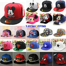 Children Cartoon Peaked Baseball Cap Snapback Kid Boys Girls Hip-hop Sun Hat New