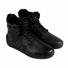 Supra Skytop Iv Mens Black Leather High Top Lace Up Sneakers Shoes