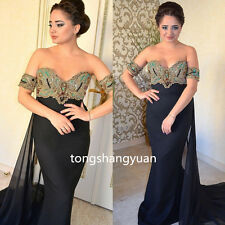 2017 Strapless Evening Dresses Formal Prom Gowns Chiffon Crystals Custom Size 2+