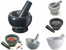 12/14/17cm Pestle And Mortar Herbs Spices Food And Ice Grinder Cooking Set Tool