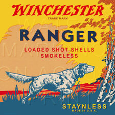 Reproduction Vintage Winchester Ranger Shotgun Shell Box Label Canvas Print