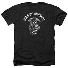 Sons Of Anarchy Soa Reaper Mens Heather Shirt Black