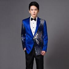 Mens Sequins Blazer Sequin Tuxedo Suit Slim fit Psy Jacket Coat Wedding Clothing