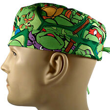 Men's Adjustable, Fold-Up Surgical Scrub Hat in Teenage Mutant Ninja Turtles
