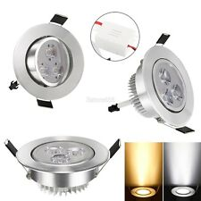 9W 85-265V Warm White Cool White Silver LED Ceiling Recessed Down Light E459