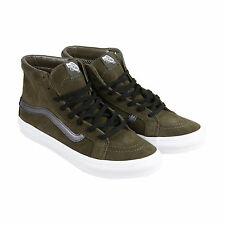 Vans Sk8-Hi Slim Cutout Mens Green Suede High Top Lace Up Sneakers Shoes