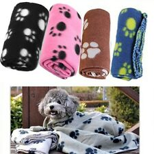 Soft Fleece Pet Blanket Puppy Cat Dog Paw Printed Bed Animal Warm Beds Mat Cute
