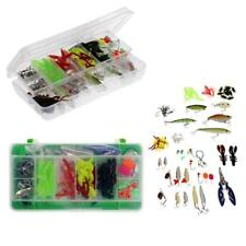 Fishing Lure Set Kit with Tackle Box Fishing Lures Baits Hard Soft Jig Hooks