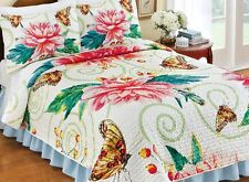 Bright Bold Butterfly Bedding Set Shams Quilt King Queen Full Twin Bed Cover