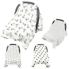 Muslin Baby Car Seat Canopy Dustproof Swaddle Stroller Blanket Shading Cover t