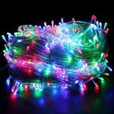 100/500 LED Warm White Fairy String Lights Solar Power Indoor Outdoor Party Xmas